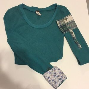 green free people thermal